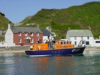 With the Porthdinllaen Lifeboat